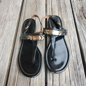 Coach Caterine Gold Thong Sandals size 9 B